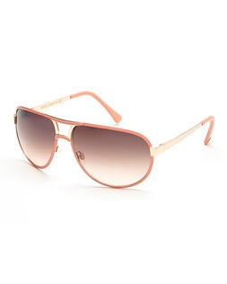 cd19a2c2d VINCE CAMUTO VC567 Pink & Gold-Tone Aviator Sunglasses